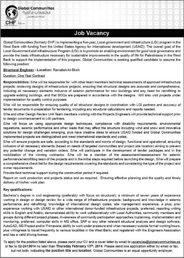 CHF: Structural Engineer