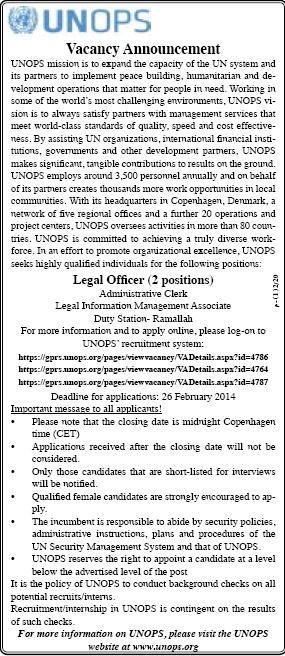 UNOPS: Legal Officer