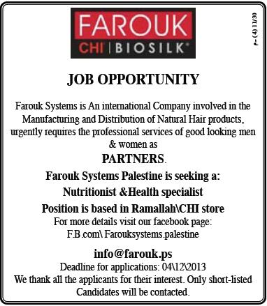 Frouk systems: Nutritionist & Health