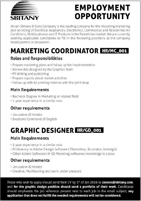 SBITANY: Vacancies